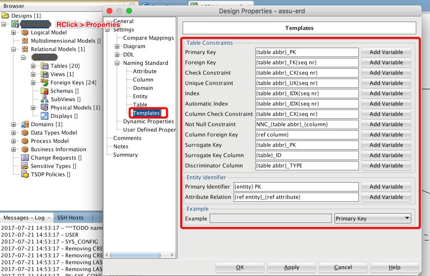 Top Oracle SQL Developer Data Modeler Settings   TalkApex