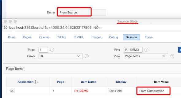 APEX Page Item Source vs Default | TalkApex